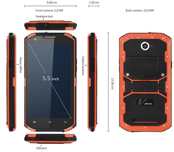 No.1 X3, móvil rugerizado de gama de entrada