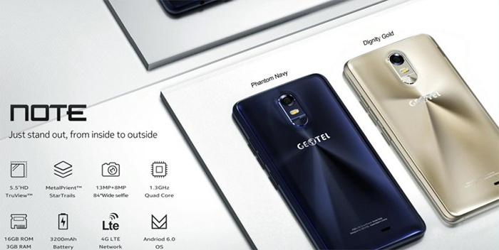 Geotel Note, smartphone equilibrado por 100€