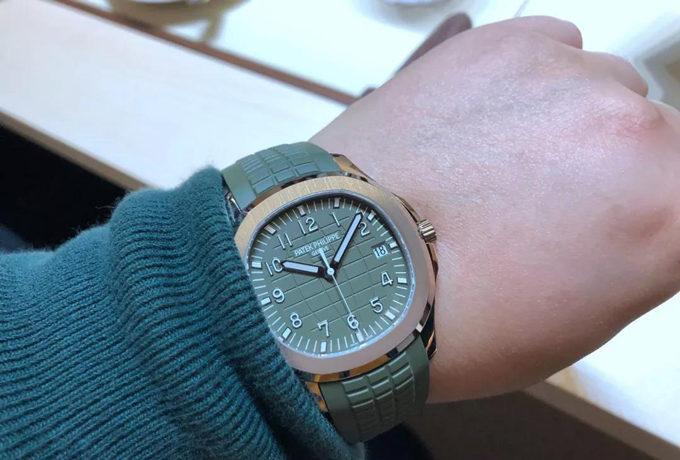 Green Patek Philippe Aquanaut 5168G-010 Watch